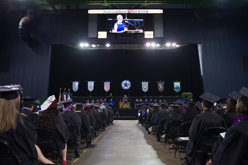 Council Woman Colleen McIntyre gives a speech during the TAMU-CC 2015 Summer Commencement. Saturday August 8 in Corpus Christi.