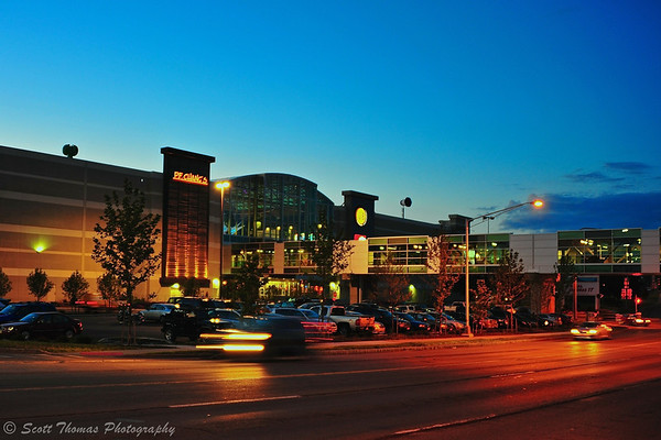 The megamall Destiny USA as seen from the Creekwalk  in Syracuse, New York.