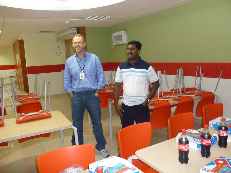 Mohan, the team's manager, say a few words to thank me for coming and spending time with them.