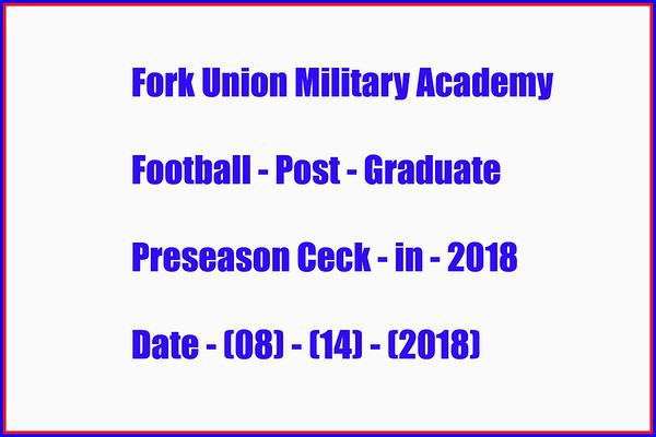Post Grad Preseason FB Check-in