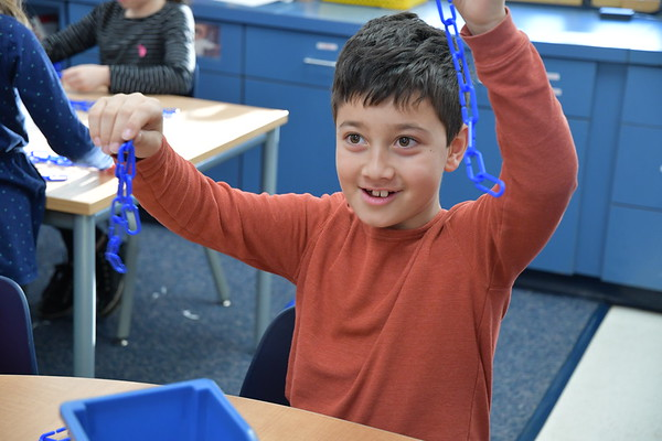 Second Graders Link Together Some Impressive Numbers