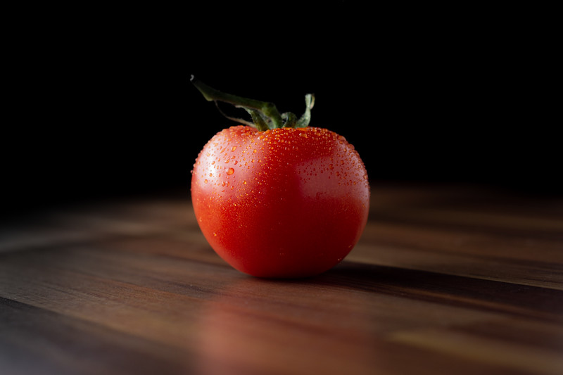 Tomato viewed from the side