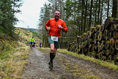 Winter Trail Marathon Wales - Runners at 11kM up to 11:50