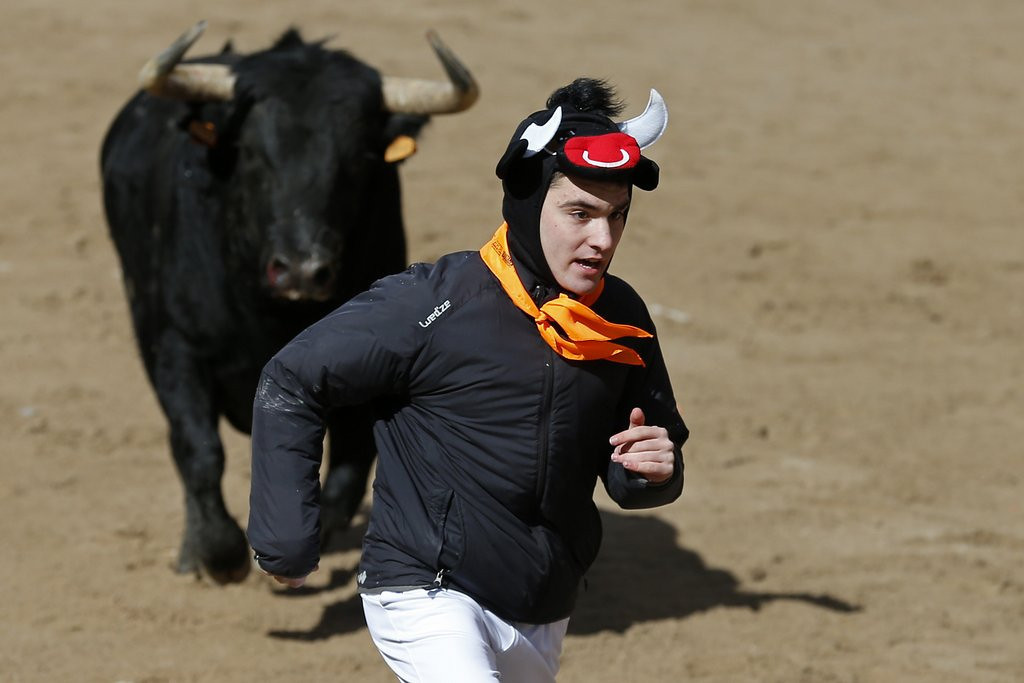 """. <p>4. EXERCISE <p>Turns out running could kill you. Especially when done with bulls. (unranked) <p><b><a href=\'http://www.twincities.com/localnews/ci_25480683/study-suggests-too-much-exercise-might-not-be\' target=\""""_blank\""""> HUH?</a></b> <p>   (Cesar Manso/AFP/Getty Images)"""