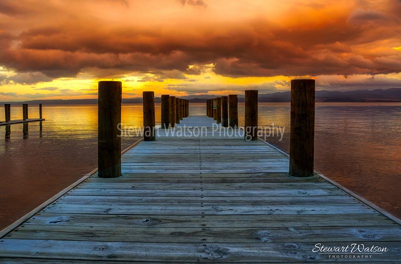 Taupo storm at dawn