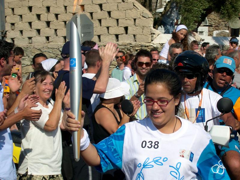 Mykonos - July 2004 Olympic flame