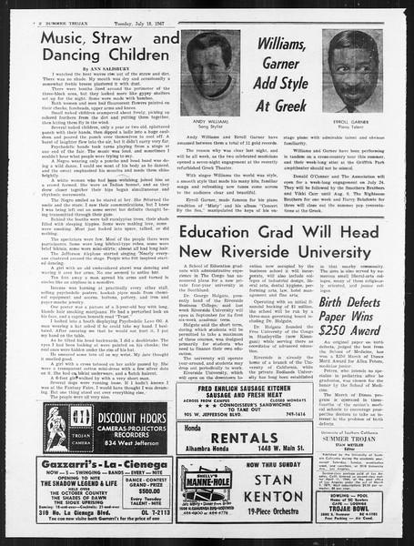 Summer Trojan, Vol. 18, No. 8, July 18, 1967