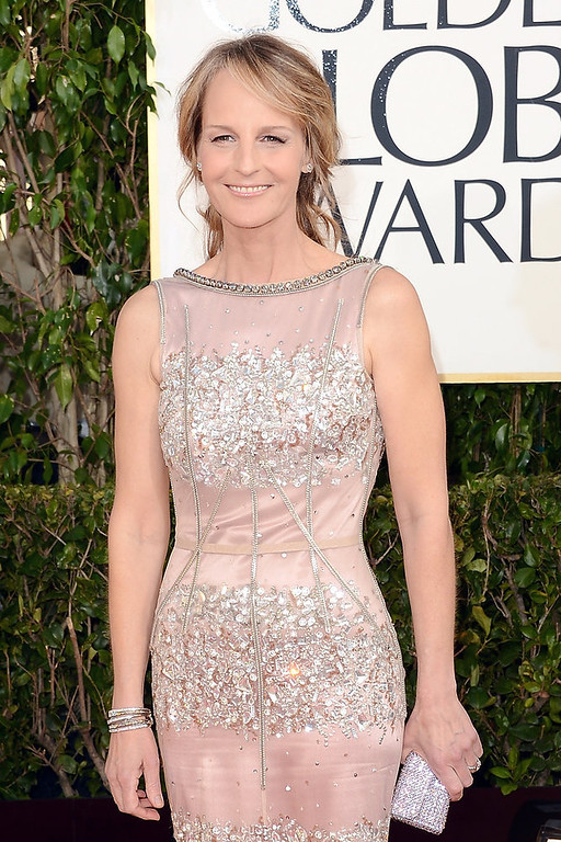 . Actress Helen Hunt arrives at the 70th Annual Golden Globe Awards held at The Beverly Hilton Hotel on January 13, 2013 in Beverly Hills, California.  (Photo by Jason Merritt/Getty Images)