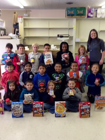 NWES - Nicole Keen's Class Food Drive