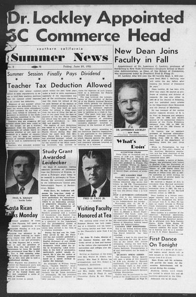 Summer News, Vol. 6, No. 2, June 29, 1951