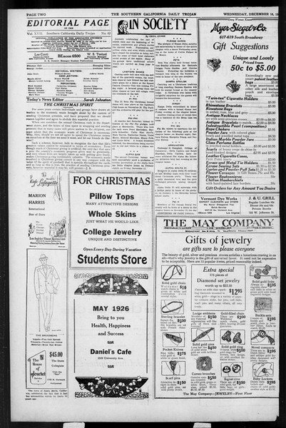 Daily Trojan, Vol. 17, No. 63, December 16, 1925