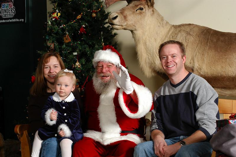 Callie with Santa 2003