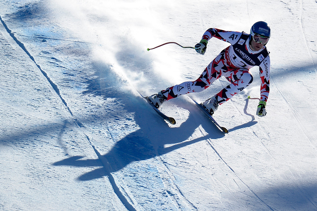 . BEAVER CREEK, CO - FEBRUARY 08: Romed Baumann  of Austria competes during the men\'s alpine combined final. FIS Alpine World Ski Championships 2015 on Sunday, February 8, 2015. (Photo by AAron Ontiveroz/The Denver Post)
