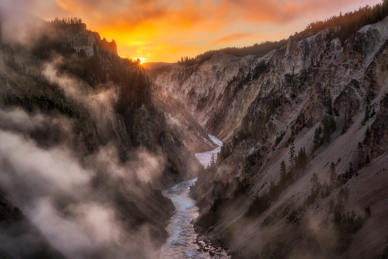 Grand Canyon of the Yellowstone Landscape Photography Yellowstone National Park