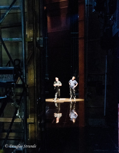 Backstage at the Vienna opera, spotlight & sound check