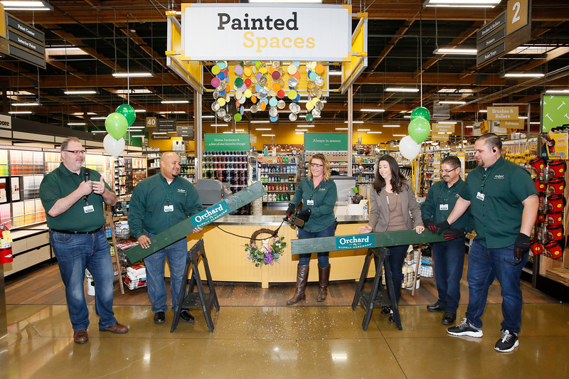 Orchard Supply Hardware Long Beach store grand opening board cutting ceremony, Long Beach, America - 22 Mar 2018