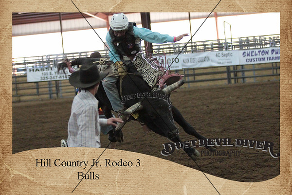 Hill Country Jr. Rodeo 3 Bulls