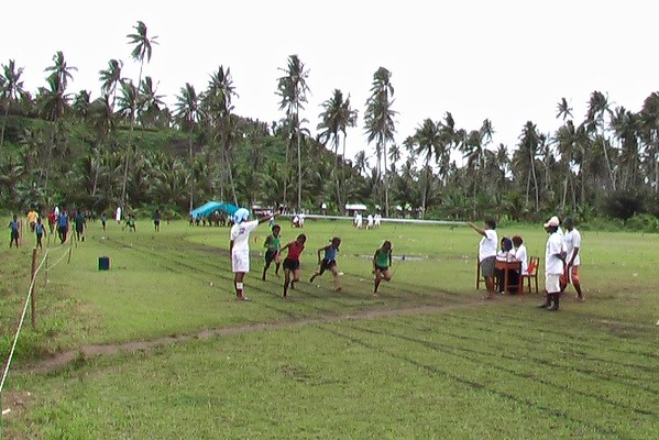 Friday Race Day for Students on Levena Coast, Taveuni Island, Yasawa Islands, Fiji - August 2004