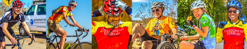 1-A)  Cyclist Close-Ups - Smiles (plus those photos easily cropped to close-ups)  *Tap photo strip above to see more than a thousand images