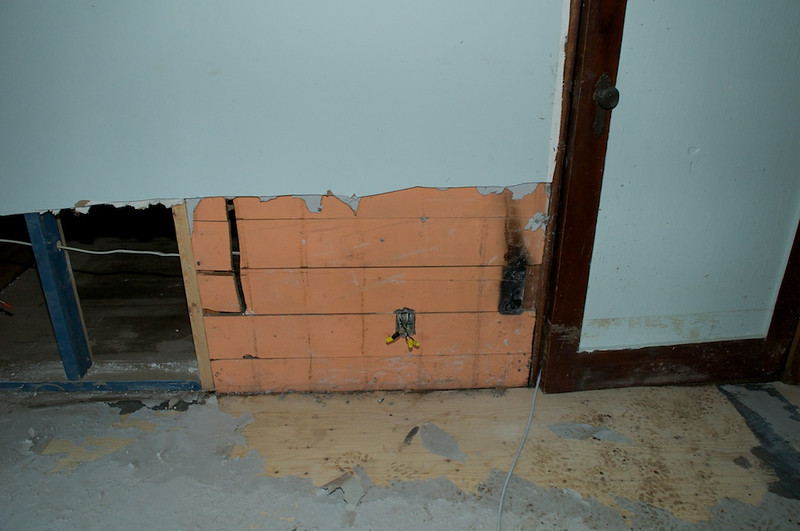 Is that a burned area under the drywall?