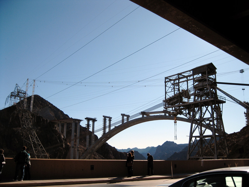 Currently, trucks aren't allowed to travel on the Hoover Dam for security reasons.