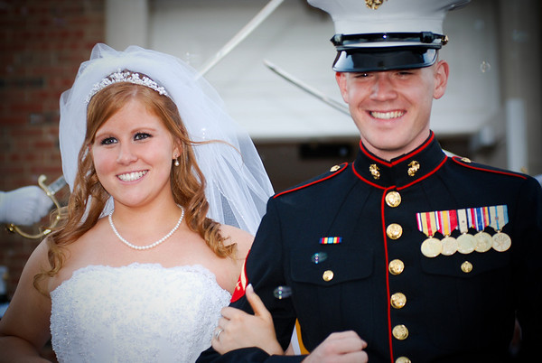 Kate & David at Officer's Club Quantico Marine Base