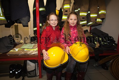 Aoife and Eve enjoyed their tour of Newry Fire Station. R1606009