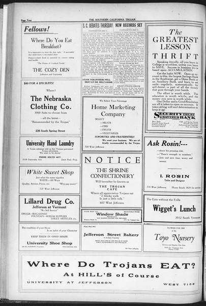 The Southern California Trojan, Vol. 12, No. 61, February 24, 1921
