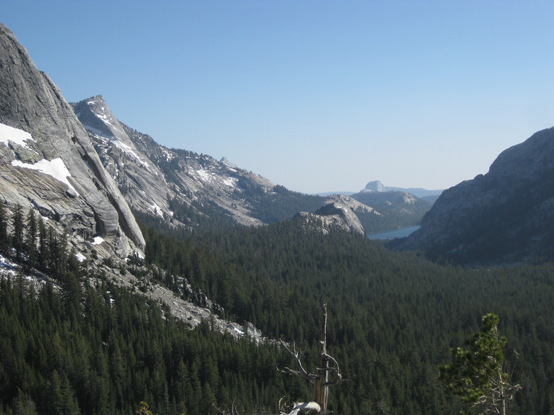 View of Half dome down the Valley
