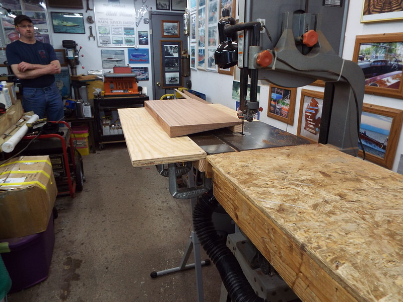 Jig made to cut the tapered section to shape