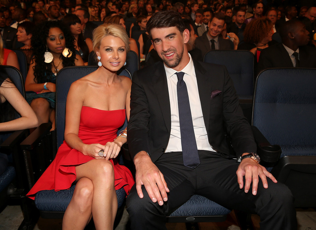 . Olympic swimmer Michael Phelps (R) and guest attend The 2013 ESPY Awards at Nokia Theatre L.A. Live on July 17, 2013 in Los Angeles, California.  (Photo by Christopher Polk/Getty Images for ESPY)