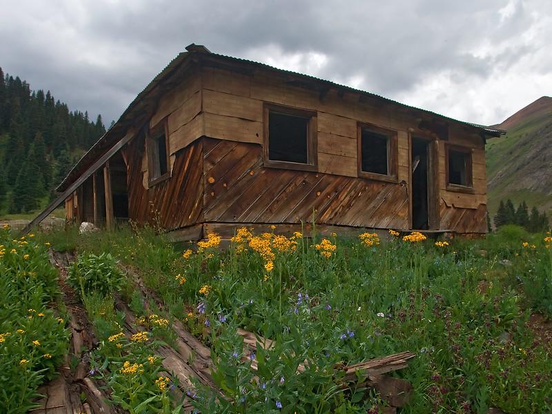 Animas Forks abandoned mining town near Silverton Colorado