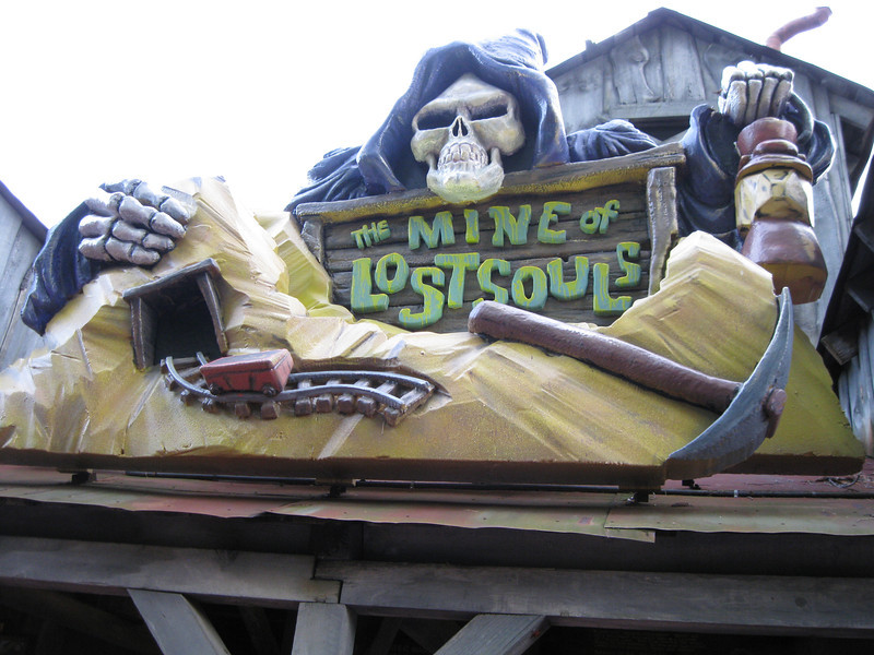"""The new """"Mine of Lost Souls"""" sign."""