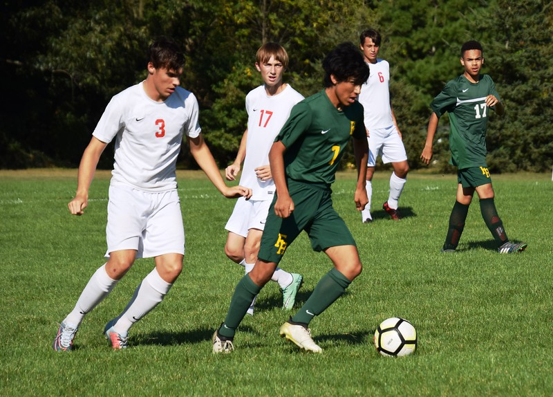New Boston Huron headed to Flat Rock on Monday and defeated the Rams by a score of 5-0. Alex Muller - For Digital First Media