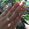 1.75ctw Cab Sapphire and Old European Cut Diamond 3-stone Ring 25