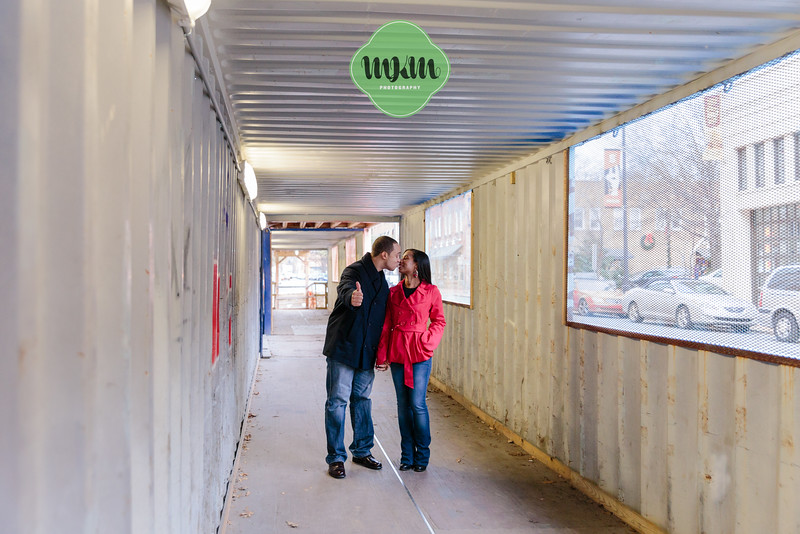 Cozy, Sweet, Downtown Raleigh Winter Engagement Photography - MKM Photography (23).jpg