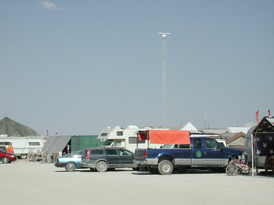 Antennas at Burning Man 2006