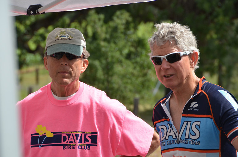 Pope Valley: Jim Sharp (right) coordinates all the corner marshals for the DC