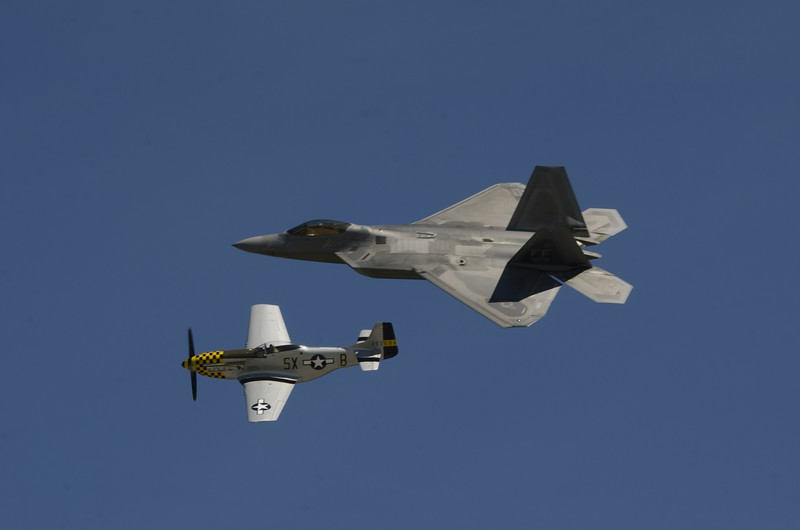 Mustang and Raptor heritage flight