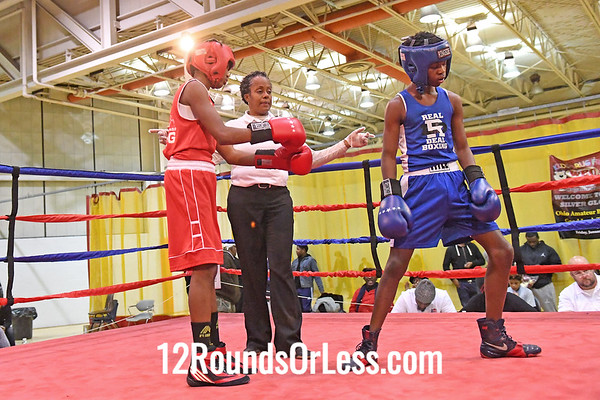 Bout 18 Markel Hardy, Blue Gloves, Real Deal, Cinci -vs- Anthony Thompson,Red Gloves, CWCB, Cinci, 100 Lbs, 14-15 Yrs