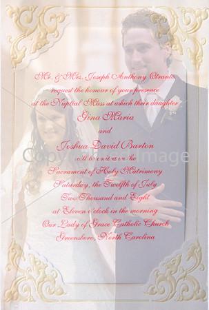 Wedding of Gina Otranto and Joshua Barton, July 12, 2008