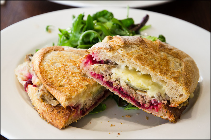 Meatloaf toastie @ Raspberry Fool