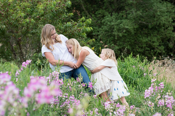 92121 San Diego Family Portrait Photographer Countryside Rustic Ranch with flowers