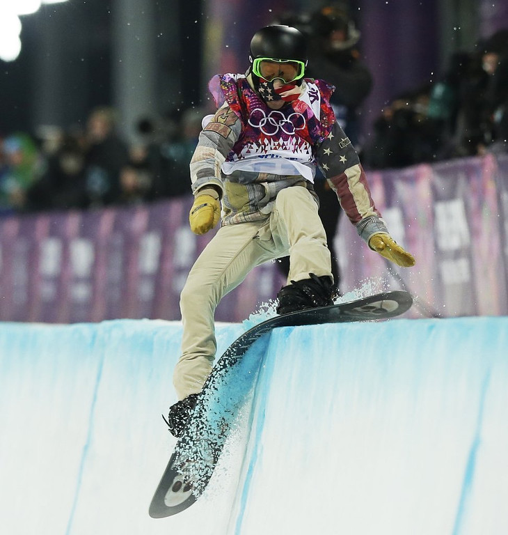. <p><b>7. SHAUN WHITE </b> <p>Tomato pasted. <p>   (AP Photo/Andy Wong)