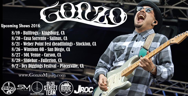 Gonzo Music show/tour flyers