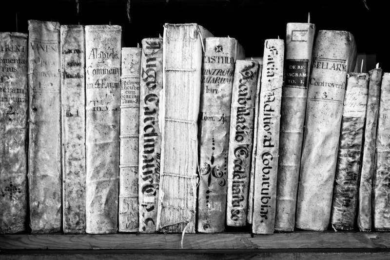Old books in a shelf - Andorra