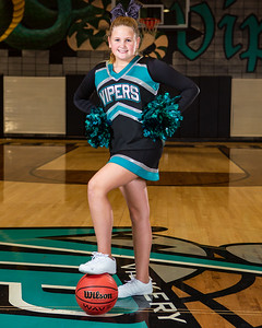 2018-2019 VCMS Basketball  and Cheer Portraits.