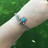 2.65ctw Victorian Turquoise and Rose Cut Diamond Tiara Bangle 24