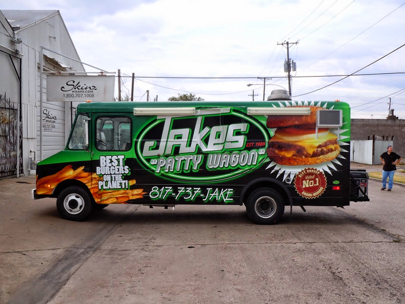 Food Truck Wrap for Jakes in Dallas, Tx www.skinzwraps.com