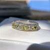 2.30ctw Fancy Yellow and White French Cut Diamond 5-Stone Band 38